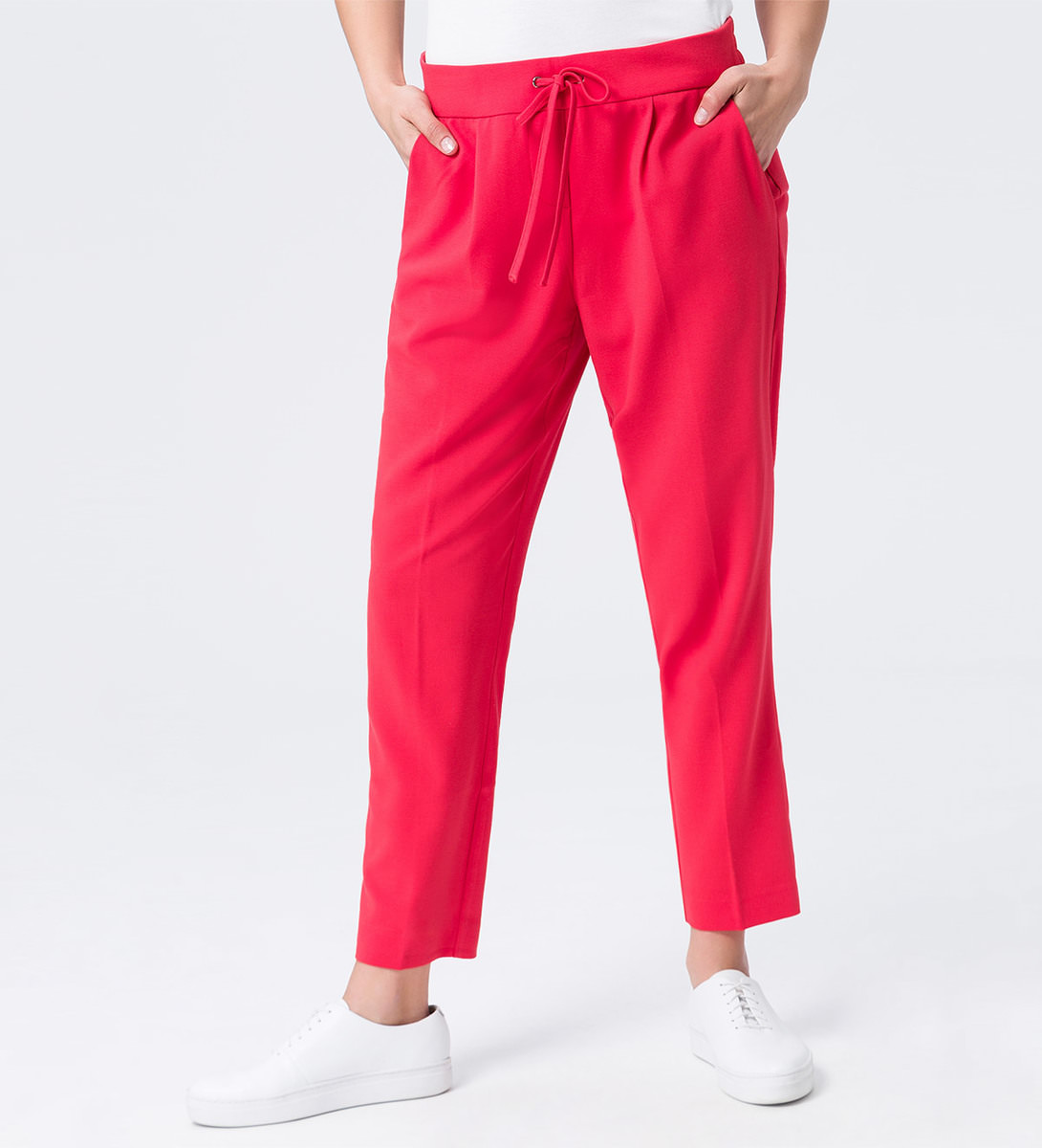 Hose mit Tunnelzug in hot coral