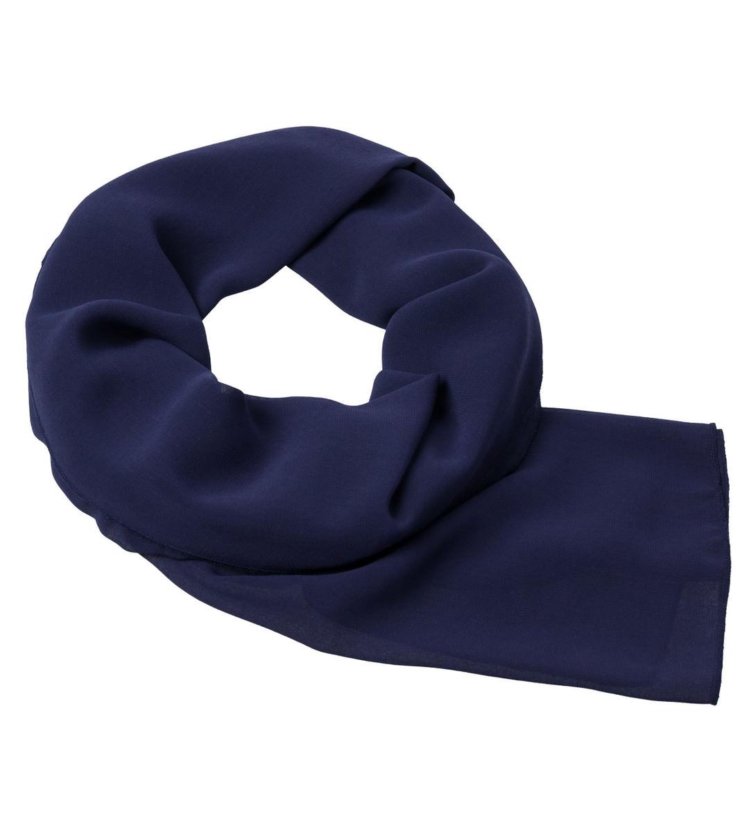 Tuch in unifarbener Optik in blue