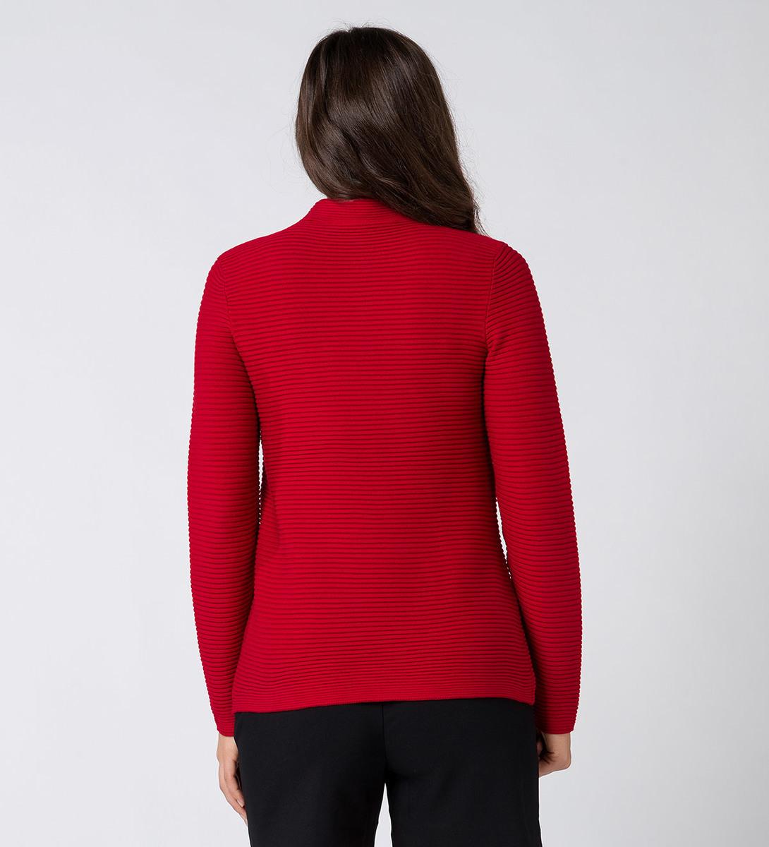 Pullover mit Rippstruktur in red flower