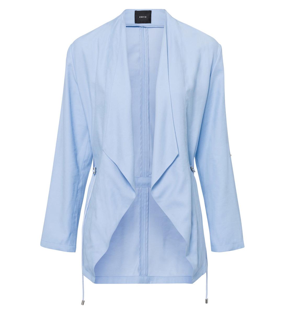 Jacke im knopflosen Design in horizon blue