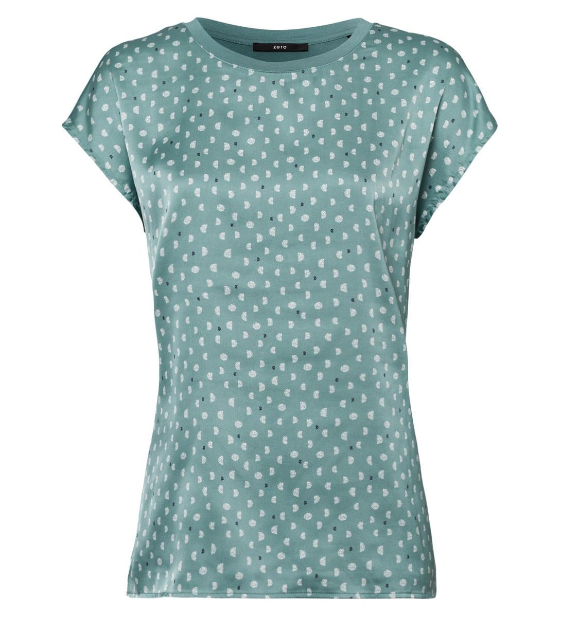 Blusenshirt mit zweilagiger Front in dusk jade