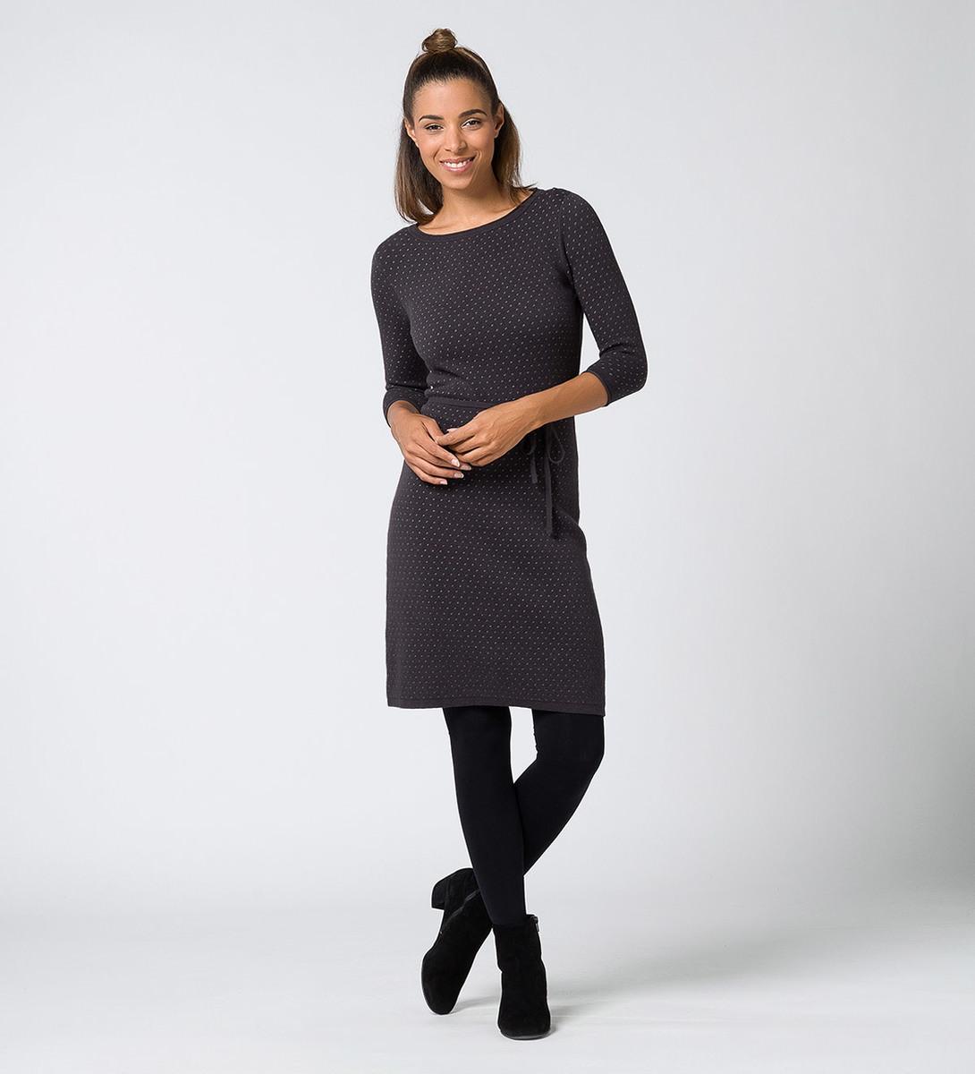 Kleid mit Wollanteil in anthracite