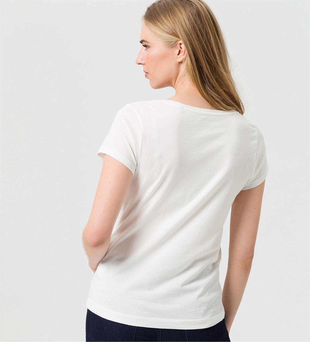 T-Shirt mit Strasssteinen in offwhite