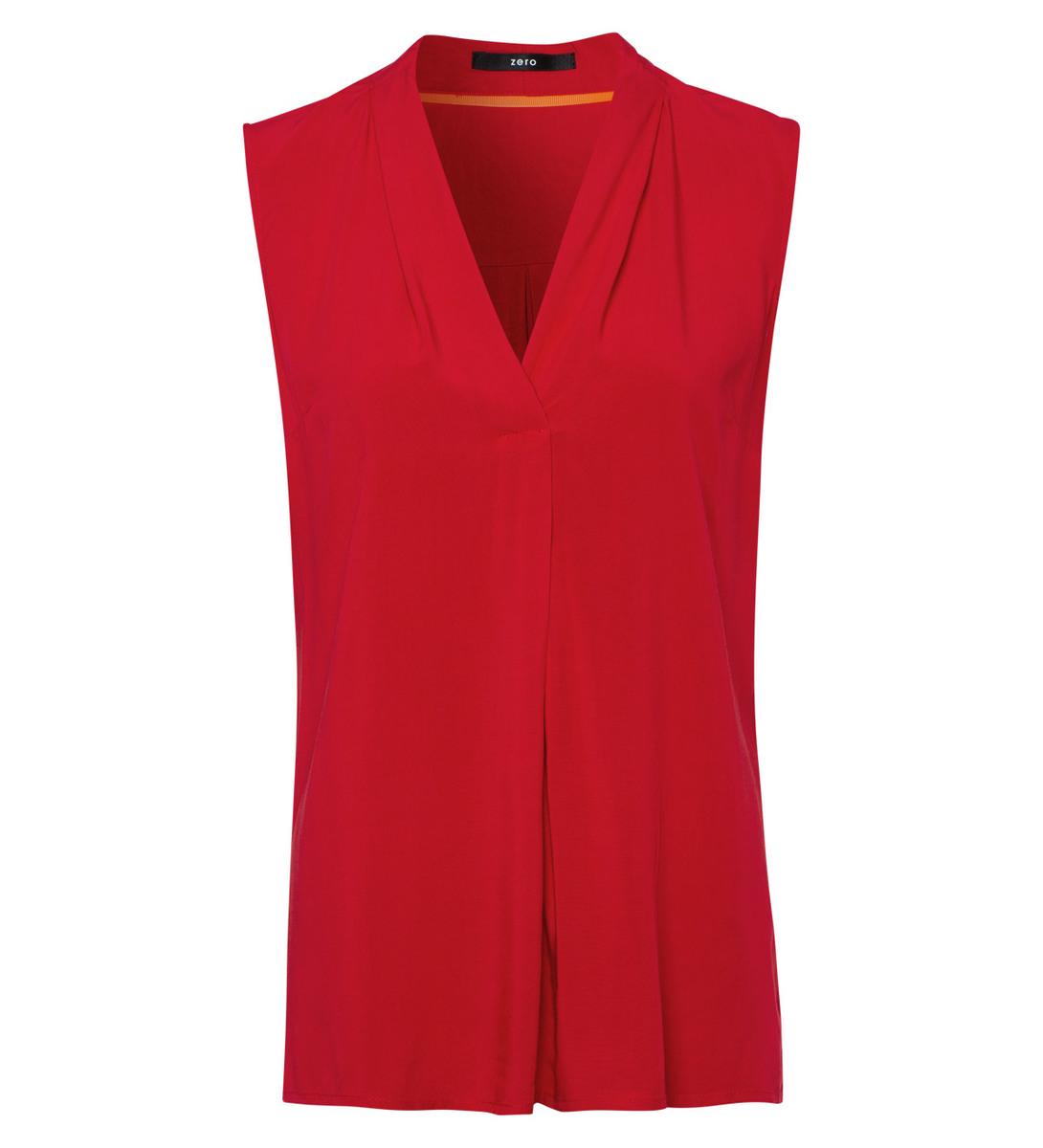Bluse mit Faltenwurf in fresh red