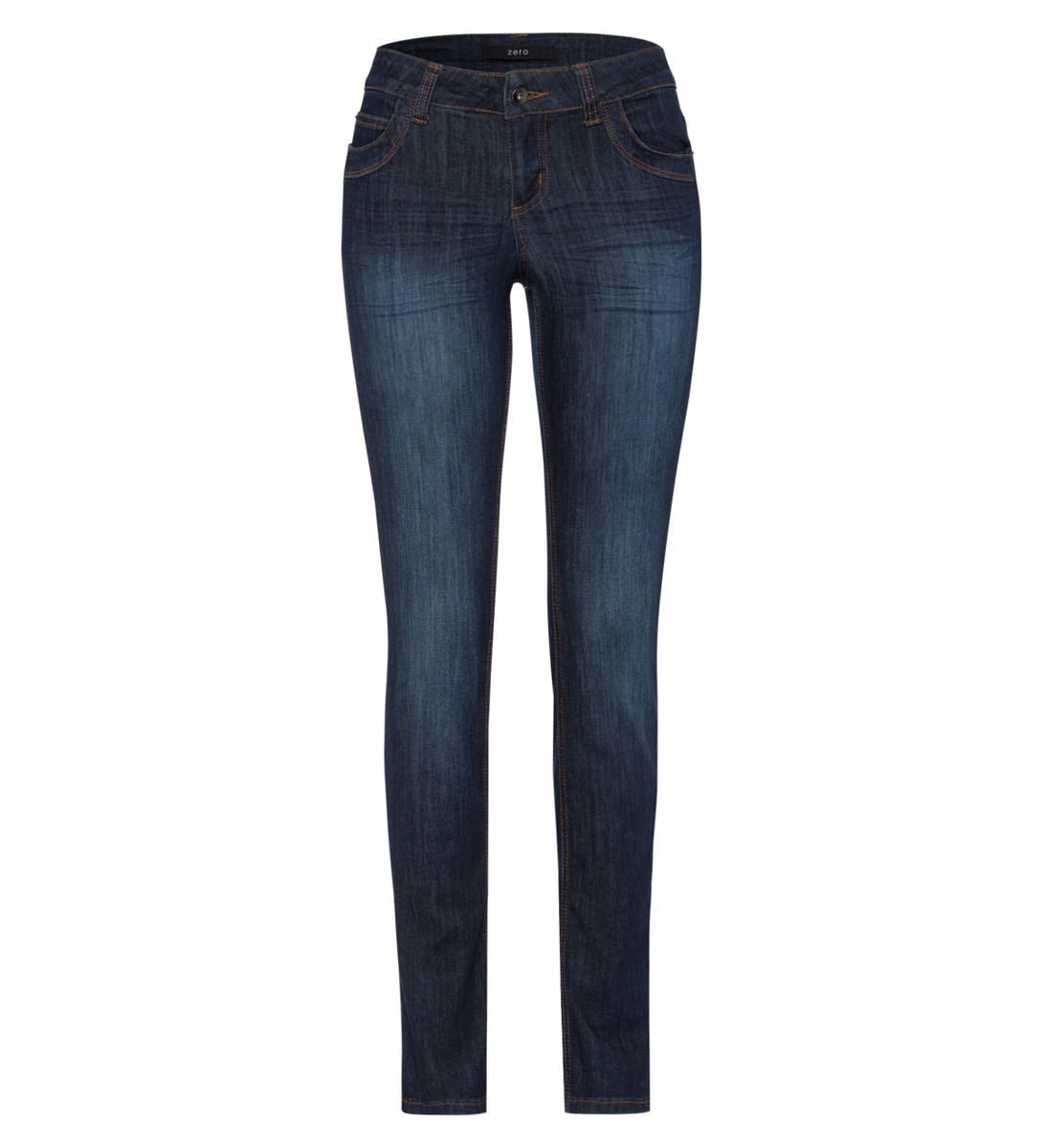 Straight Fit-Jeans Kingston 32 Inch in clean dark blue rinse