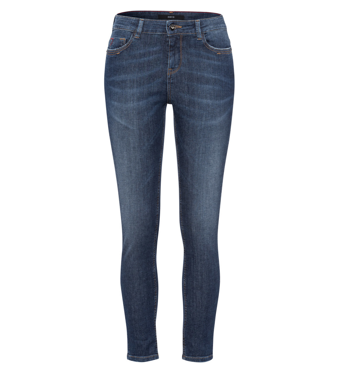 Jeans in Skinny fit 28 Inch in mid blue soft wash