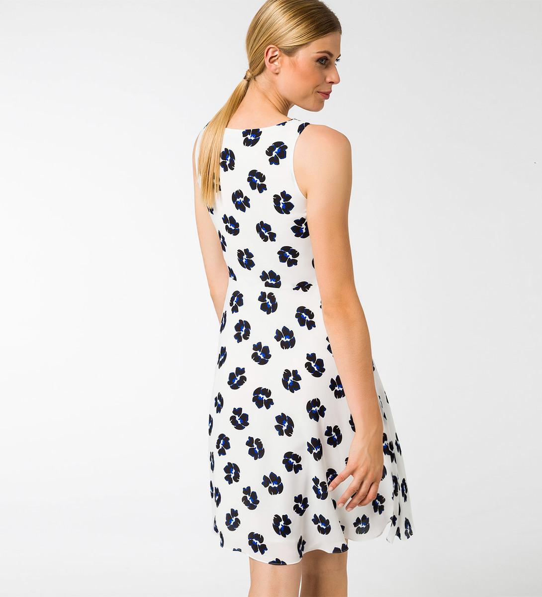 Kleid mit Wasserfallausschnitt in offwhite