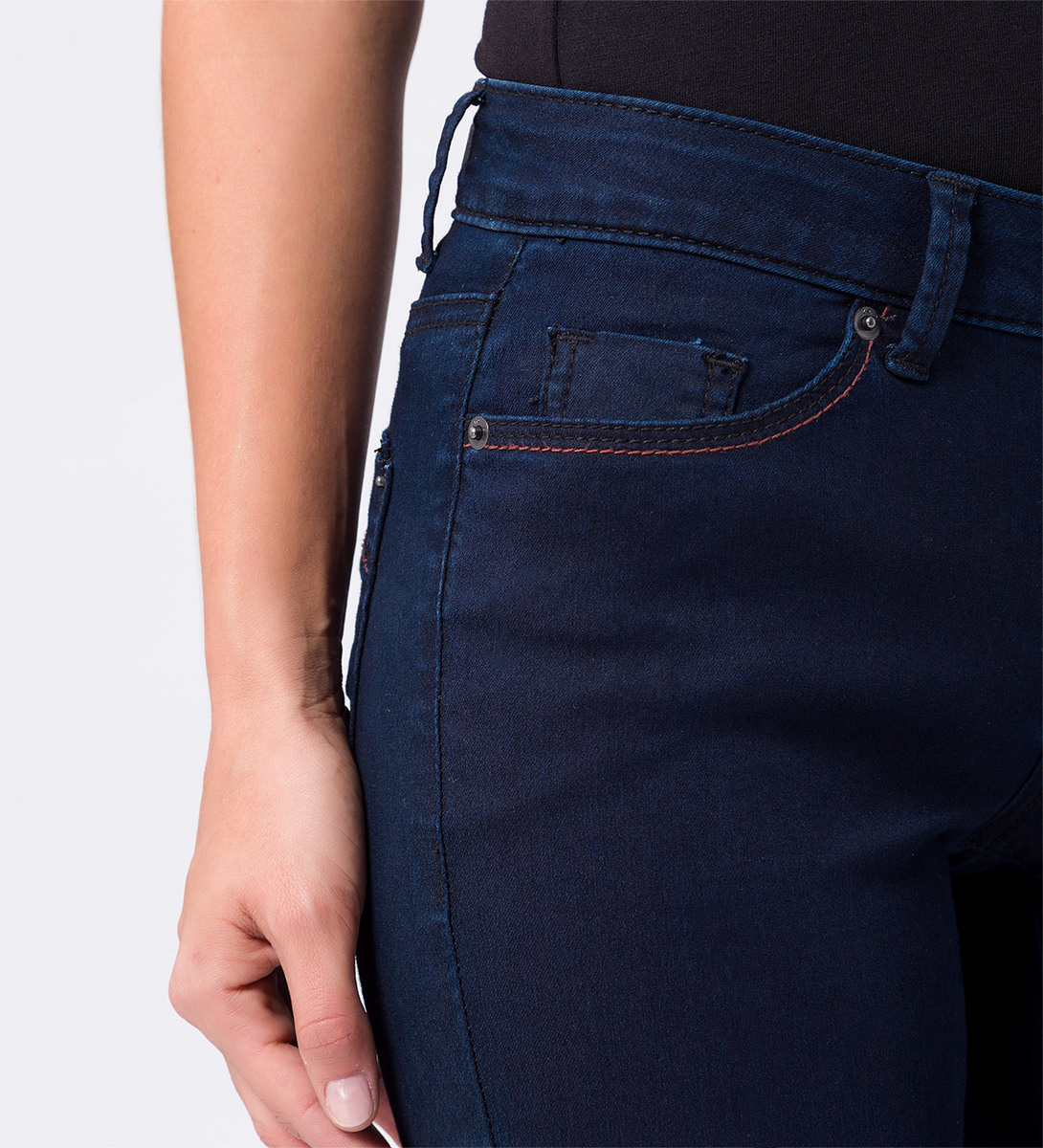 Jeans slim fit 30 inch in dark blue washed