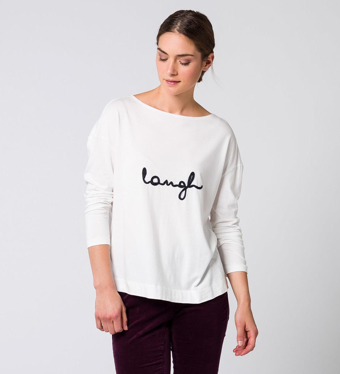 T-Shirt mit Schriftzug offwhite