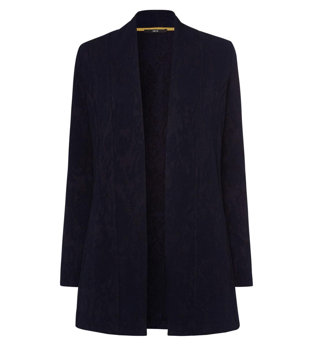 Jersey Cardigan mit strukturierter Oberfläche in blue black