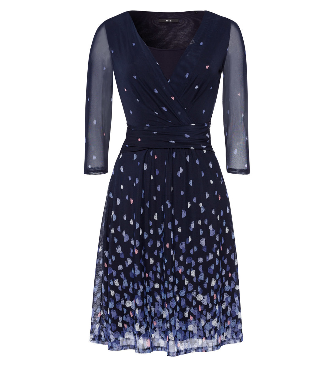 Kleid im raffinierten Design in blue black