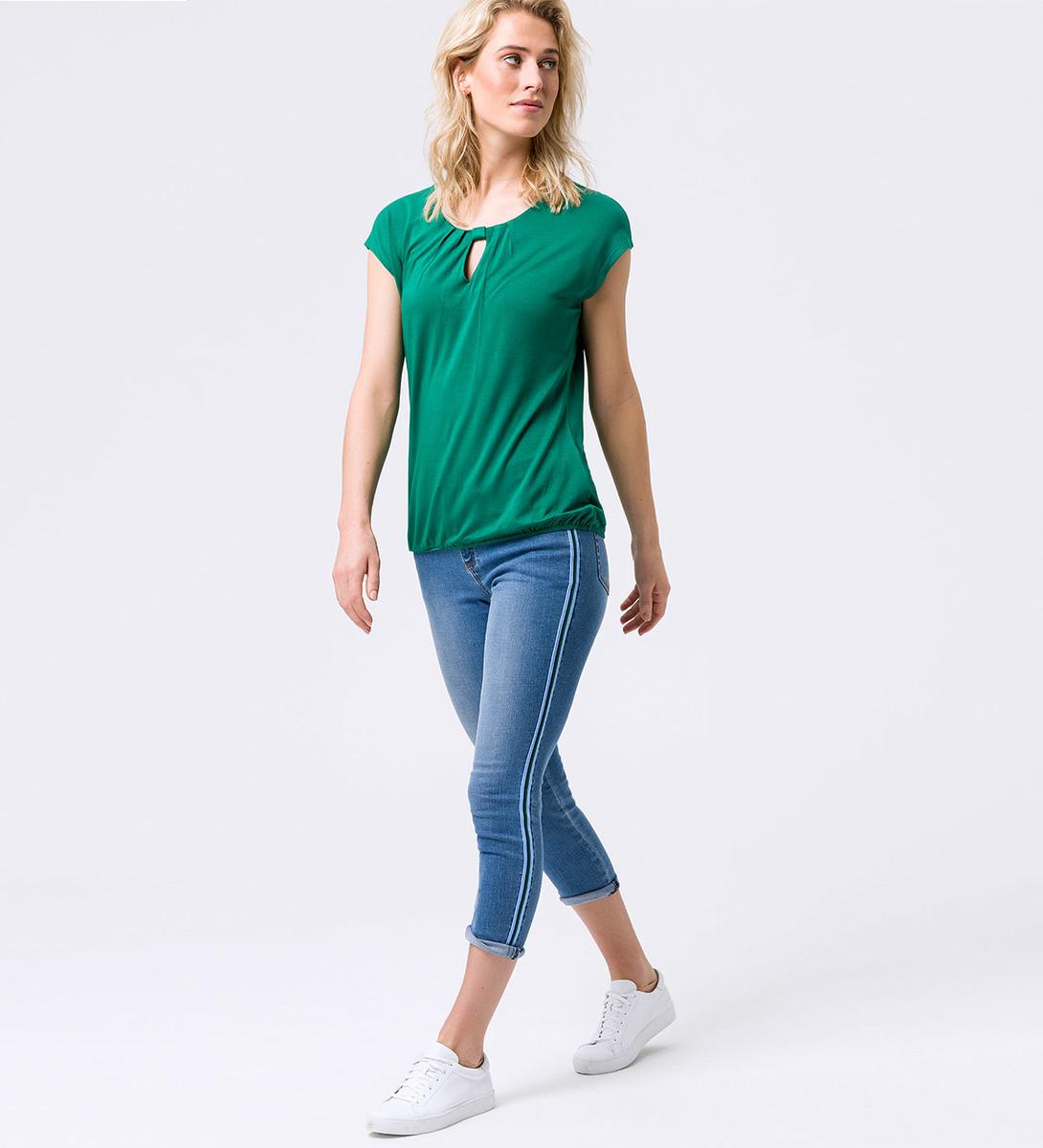 Shirt mit Keyhole-Design in smaragd