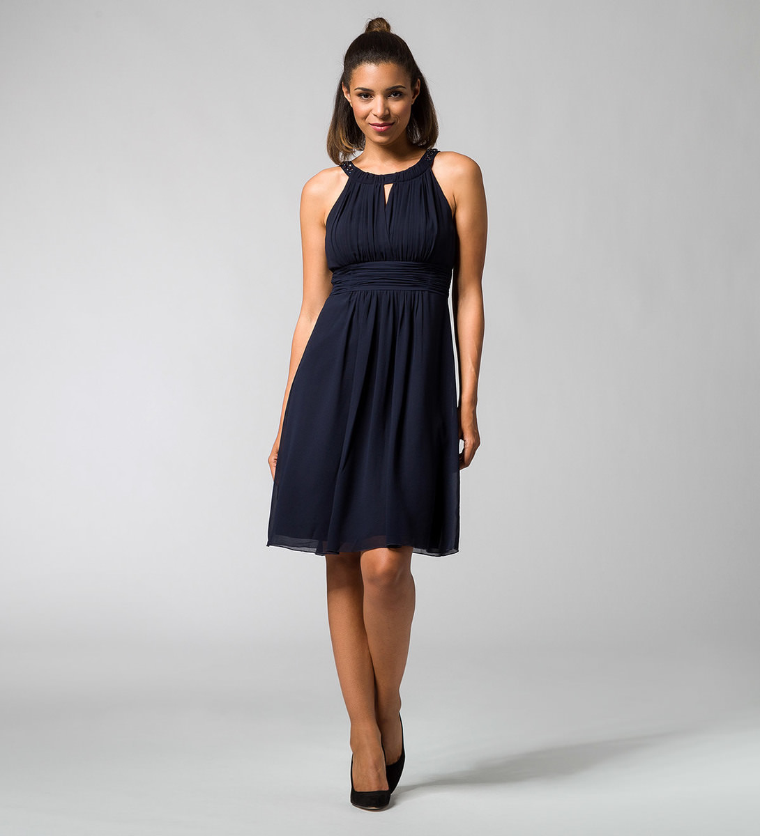 Cocktail-Kleid mit Neckholder in blue black