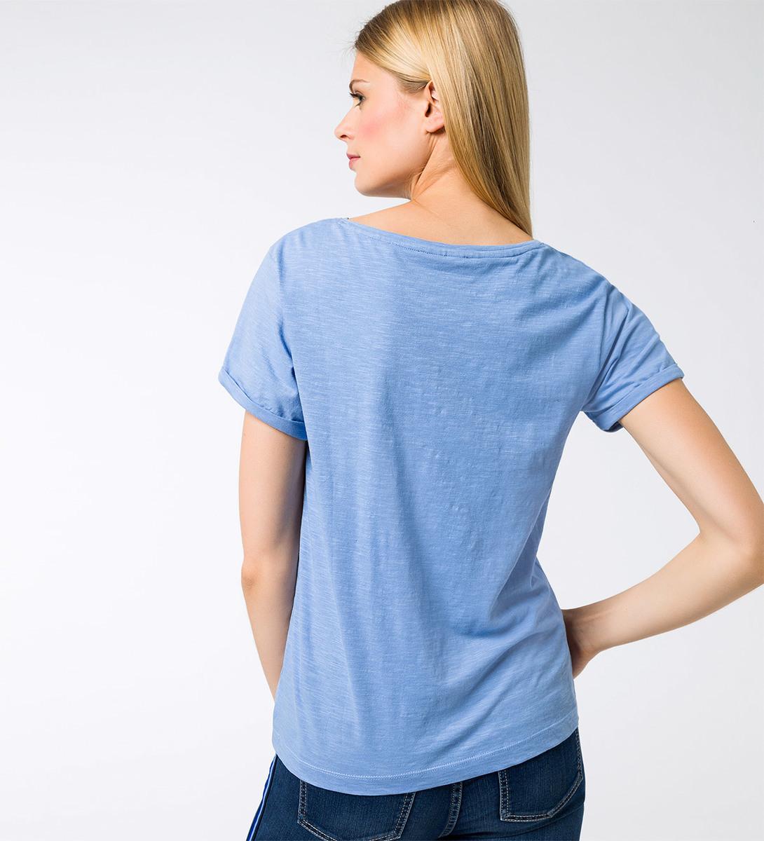 T-Shirt mit Statementprint in azur blue