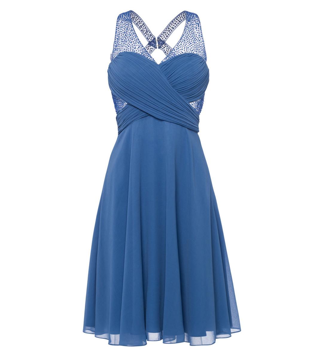 Kleid im raffinierten Design in water blue