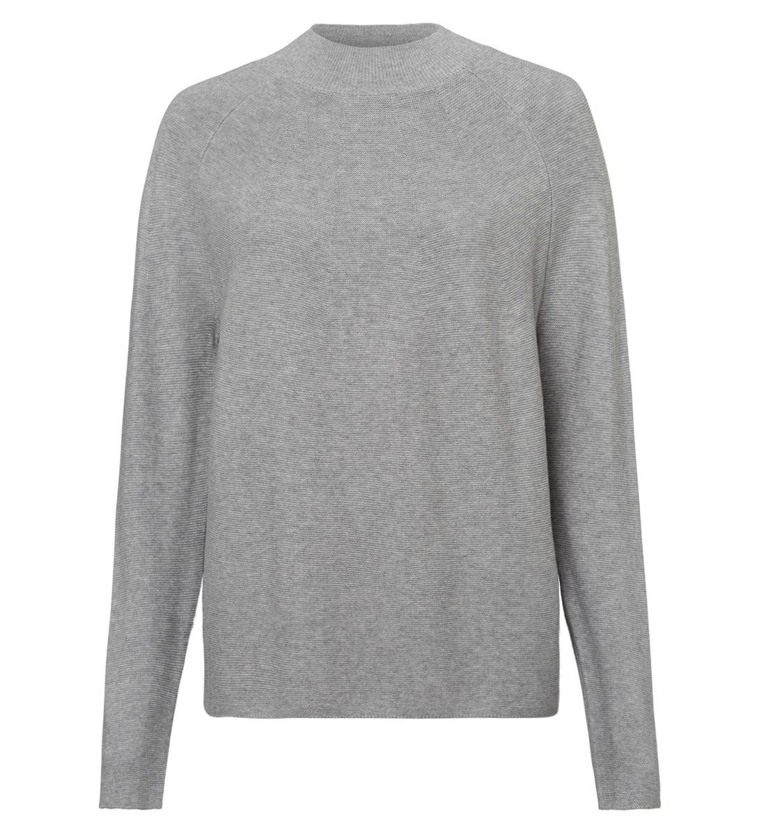Pullover mit Turtleneck in stone grey