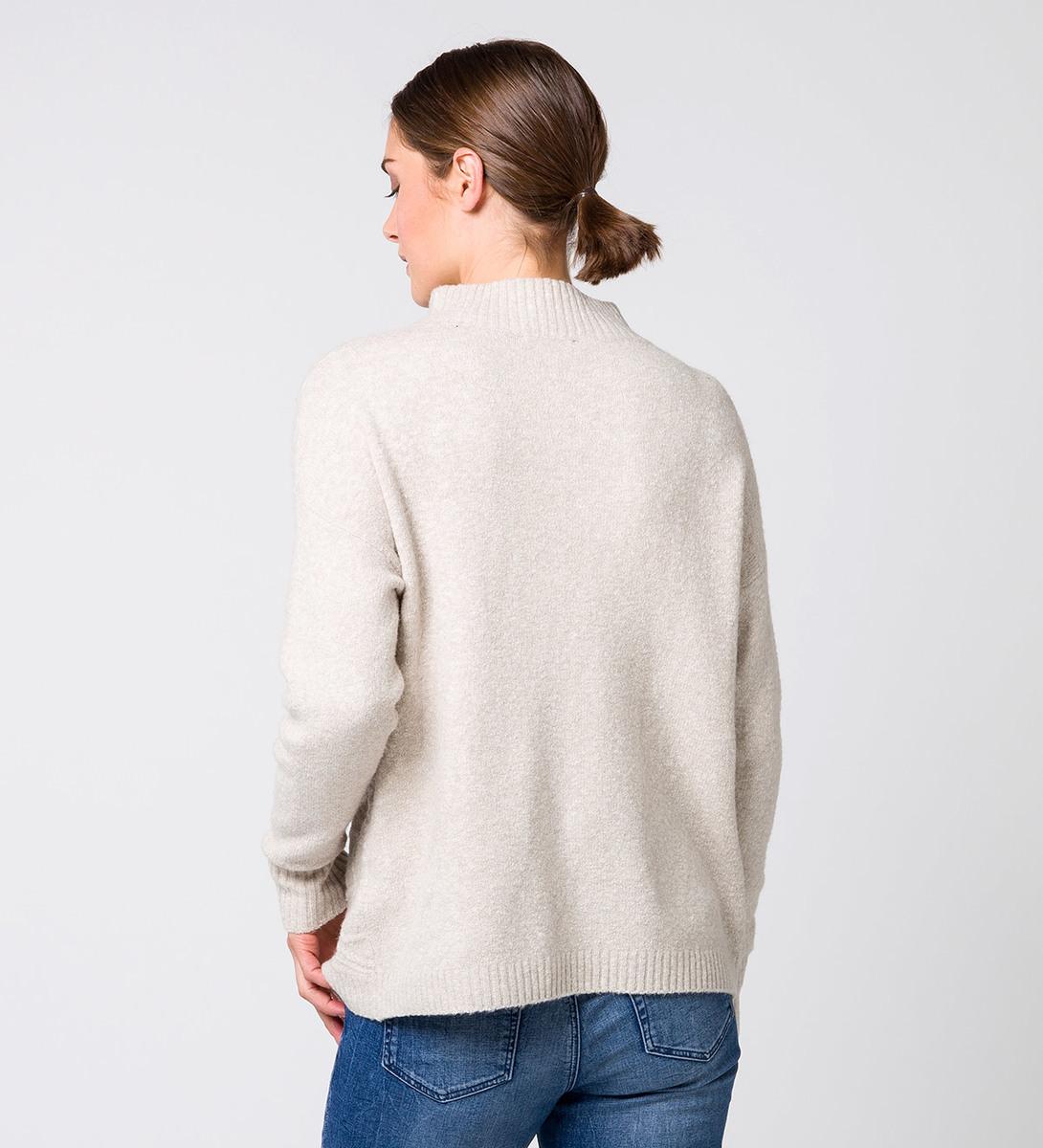 Pullover mit Strickmuster in dove grey-m