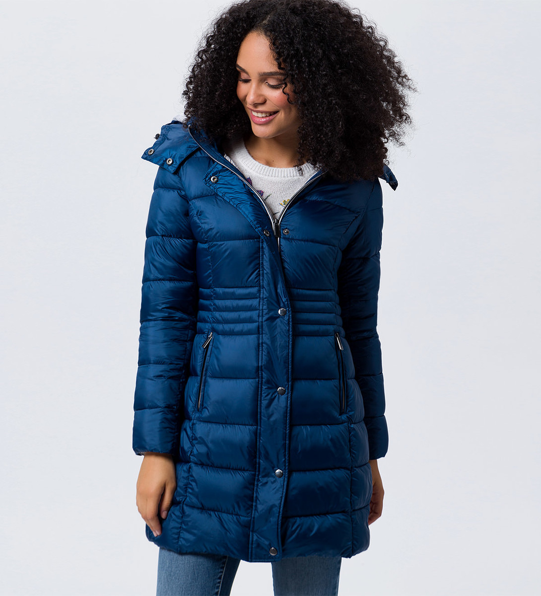 Jacke mit warmer Wattierung in petrol blue