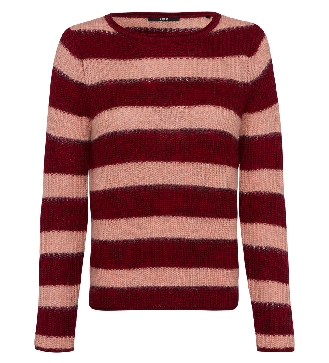 Pullover mit Mohair in wine red