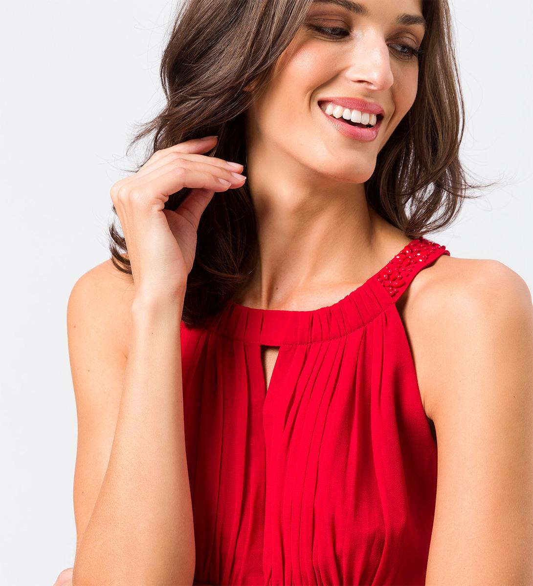 Kleid im eleganten Look in tango red