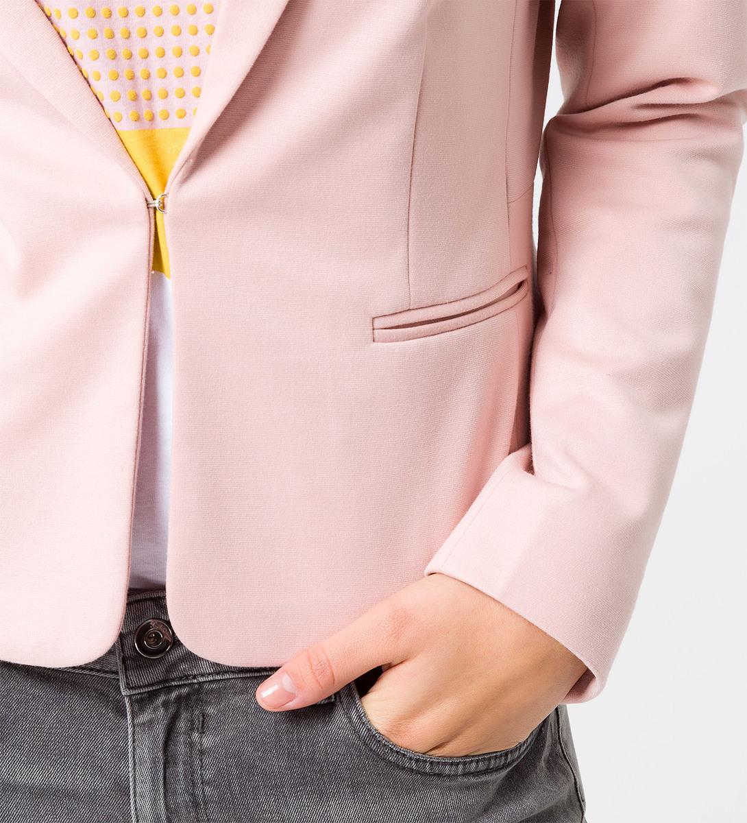 Blazer mit Paspeltaschen in rose parfait