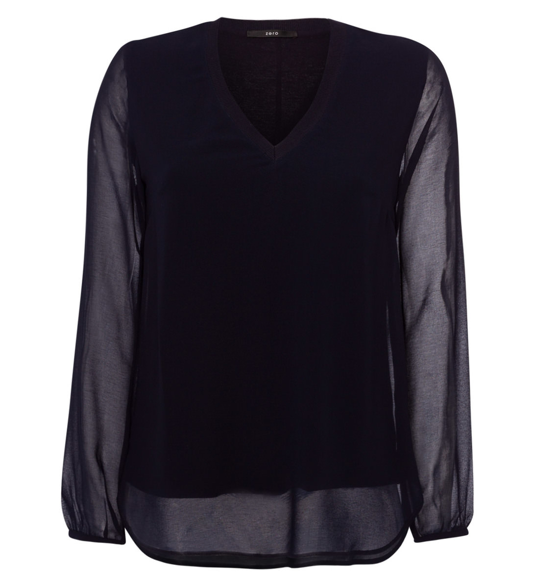 Bluse im Layering-Look in blue black