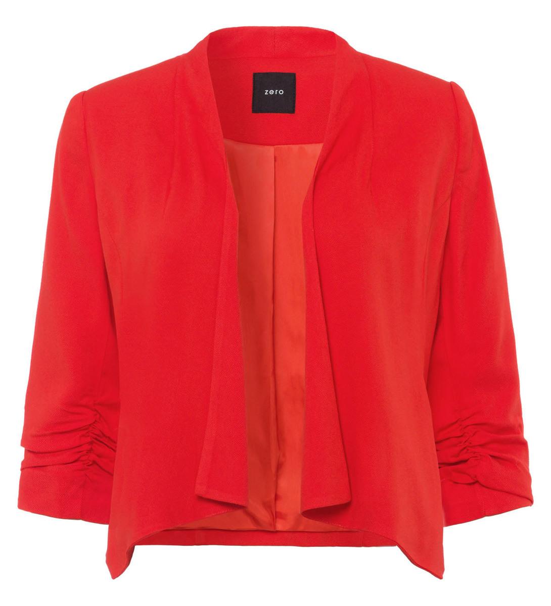 Blazer mit 3/4-Ärmeln in orange red