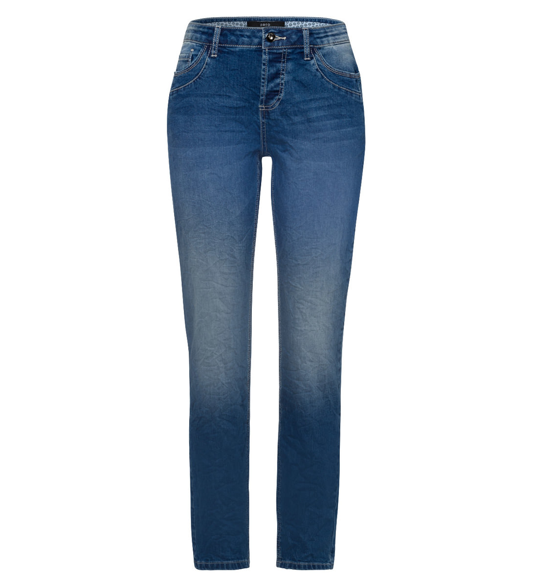 Jeans im Washed-out-Style 30 Inch in mid blue washed