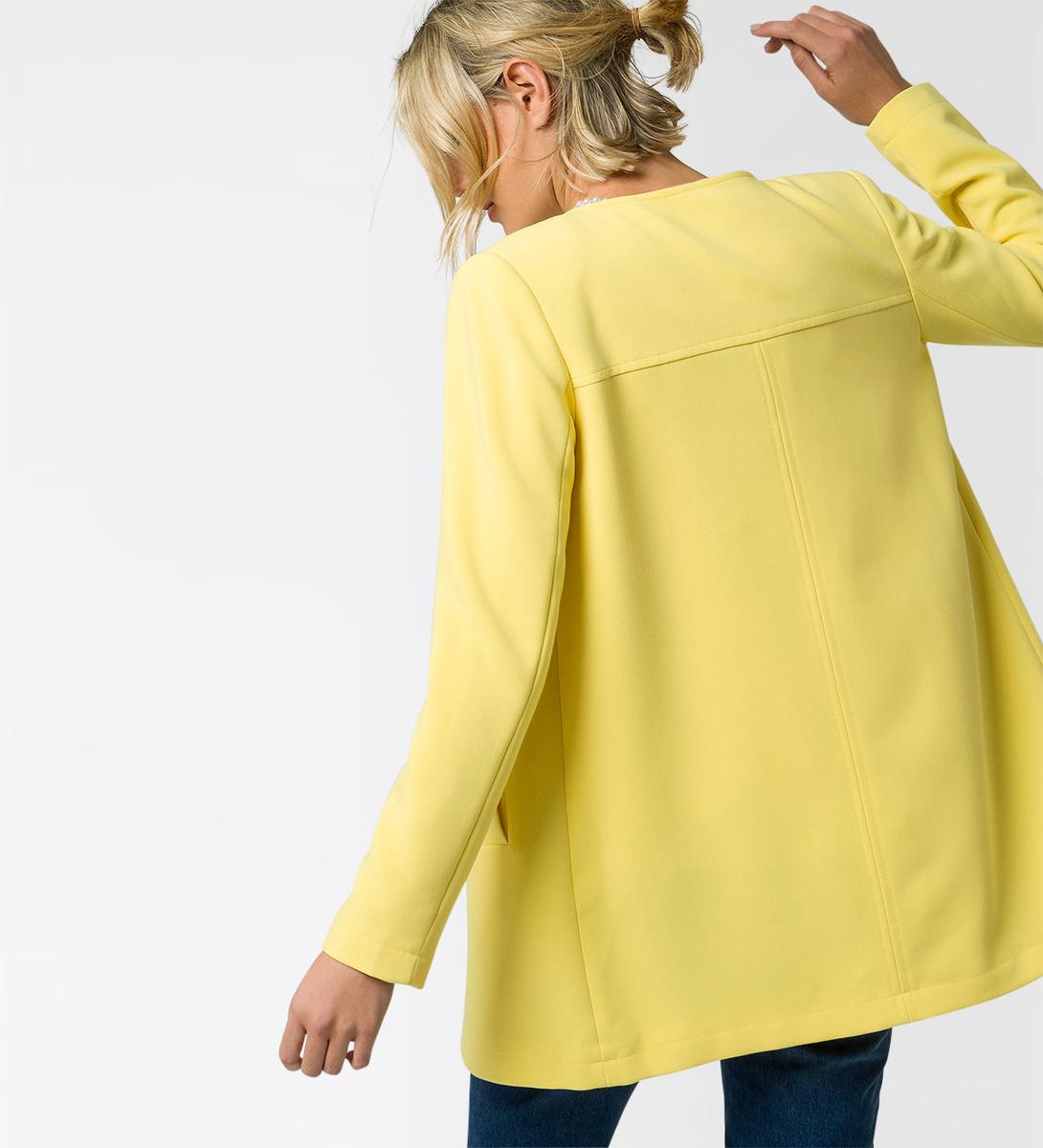 Mantel mit Schulterpolster in lemon