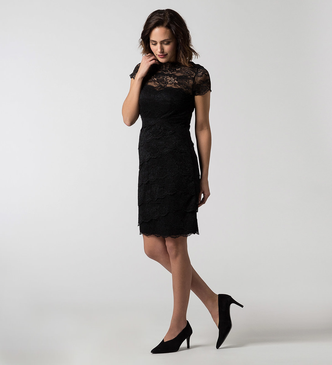 Kleid im Layering-Look in black