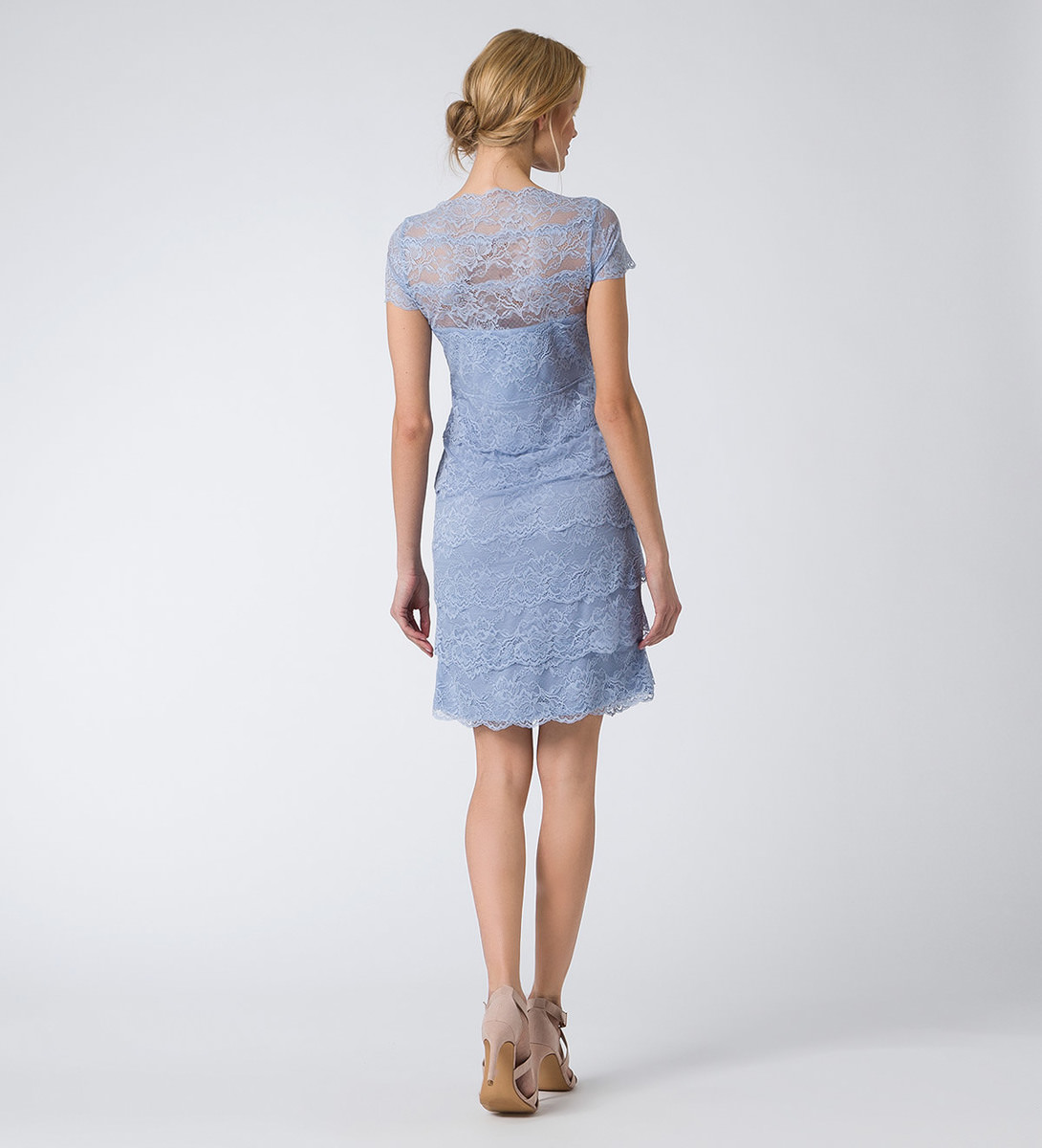 Kleid im Layering-Look in arctic blue