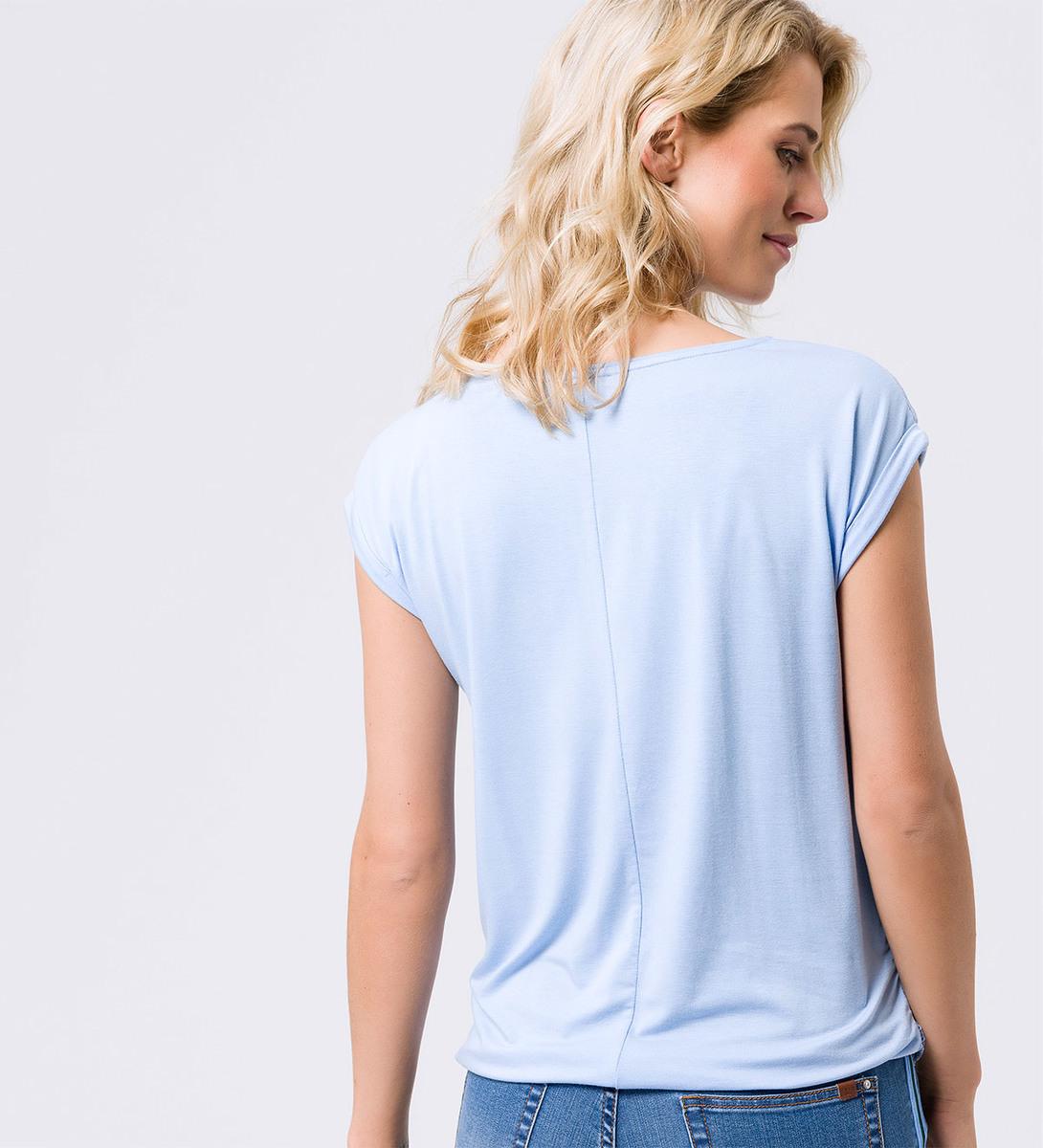 Shirt mit Spitzendesign in horizon blue