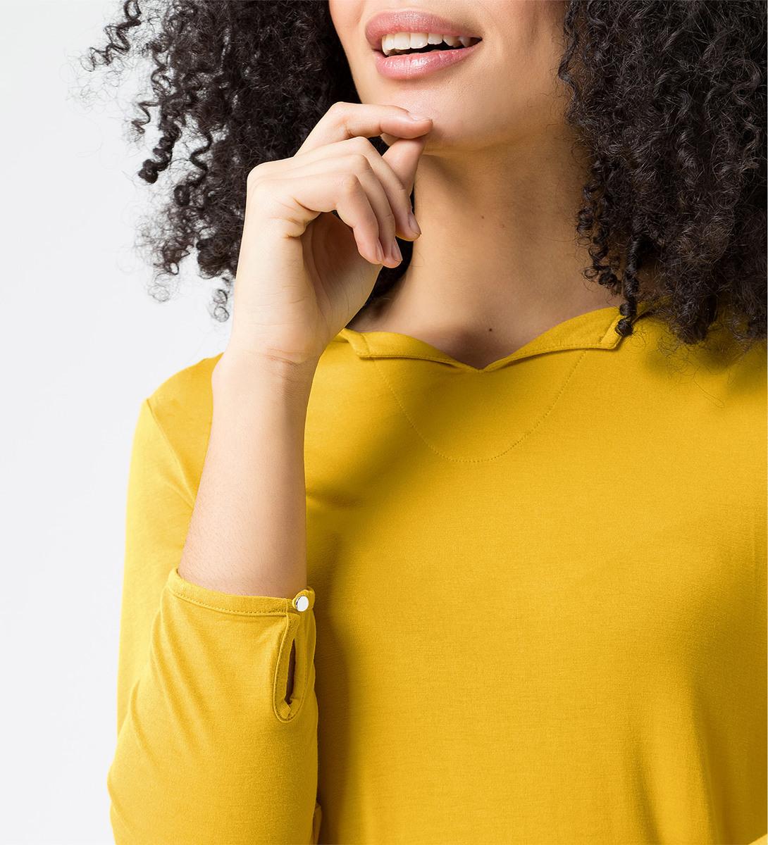 Shirt mit halblangen Ärmeln in safran yellow