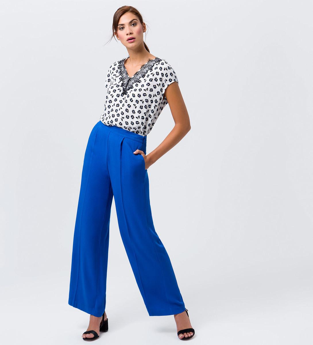 Hose mit Bügelfalten in cobalt blue