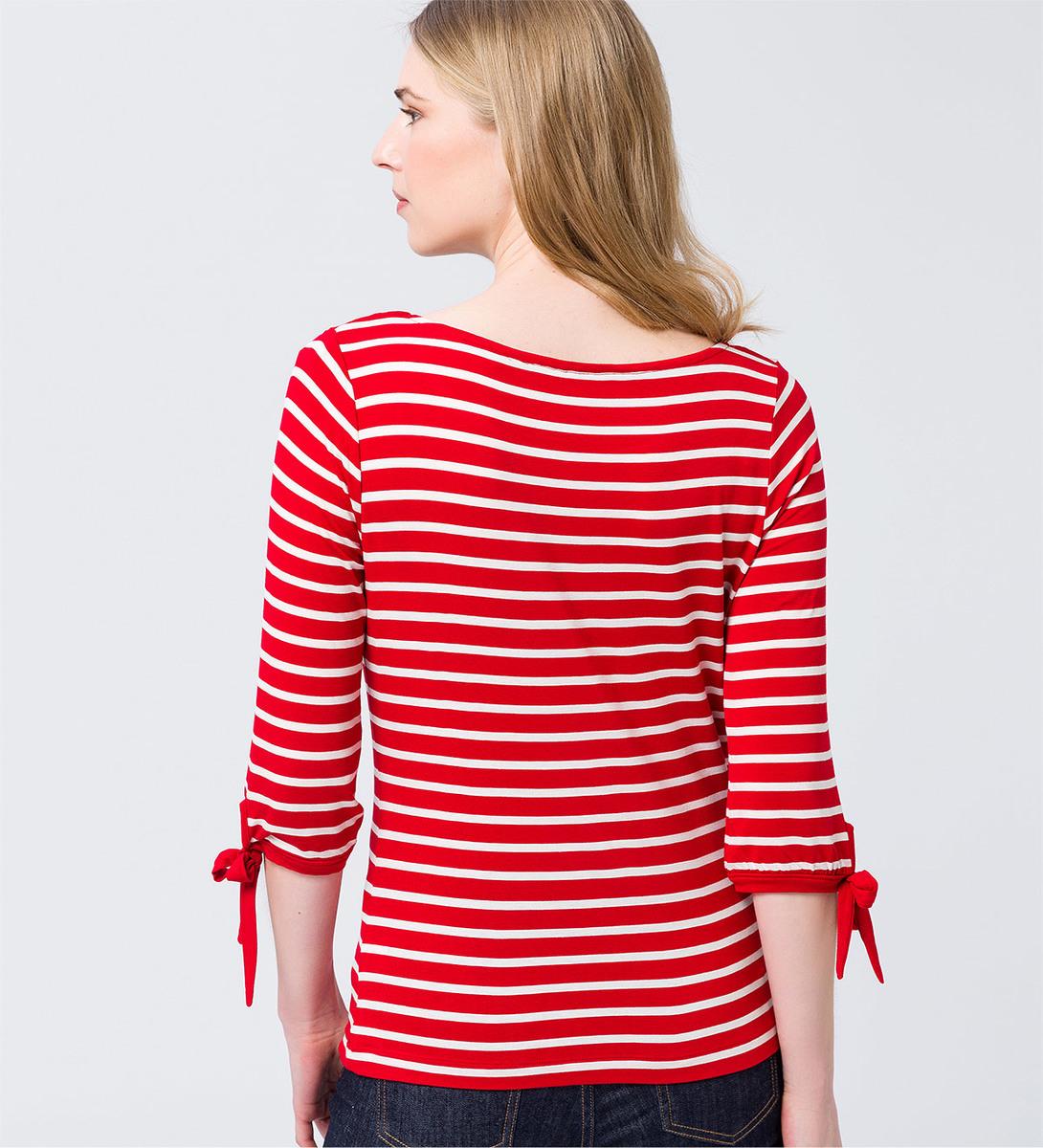 Shirt mit Bändchen in fresh red