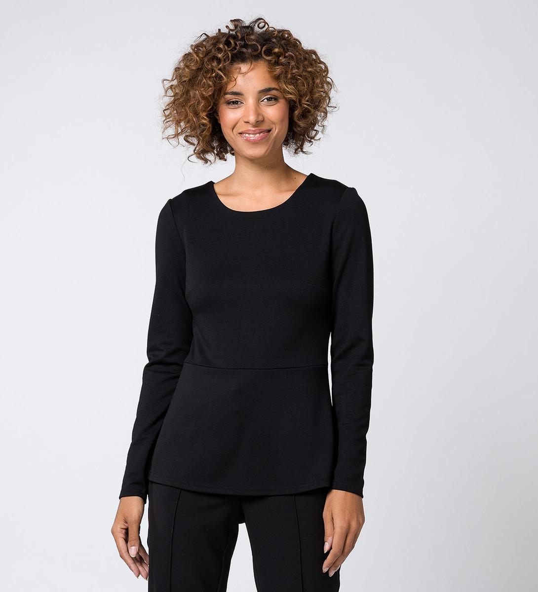 T-Shirt mit Taillenabnäher black