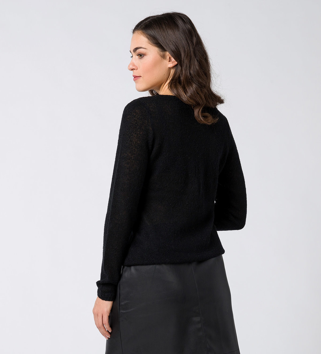 Pullover mit Mohair in black