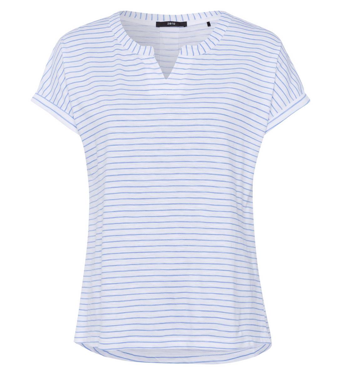 T-Shirt mit Streifenmuster in blue wave