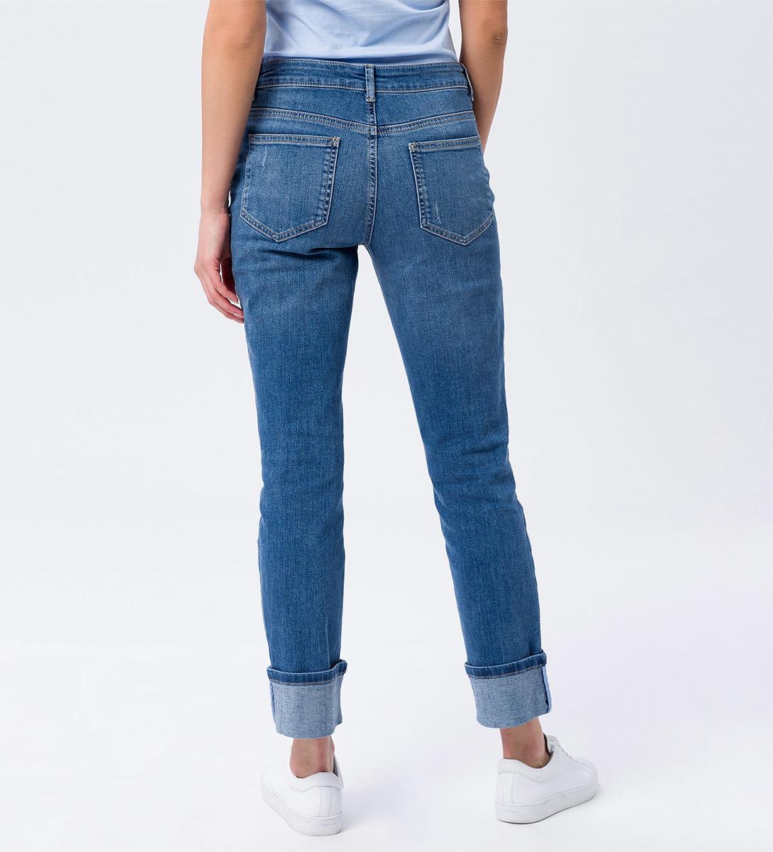 Jeans im Vintage-Look in blue denim