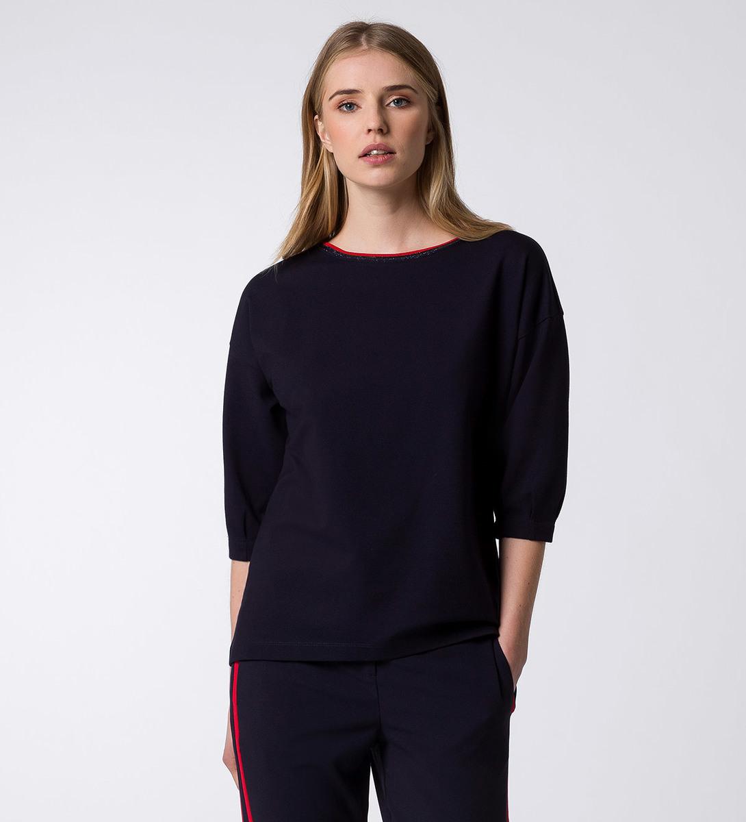 Jerseysweater mit Glitzerdetail in blue black