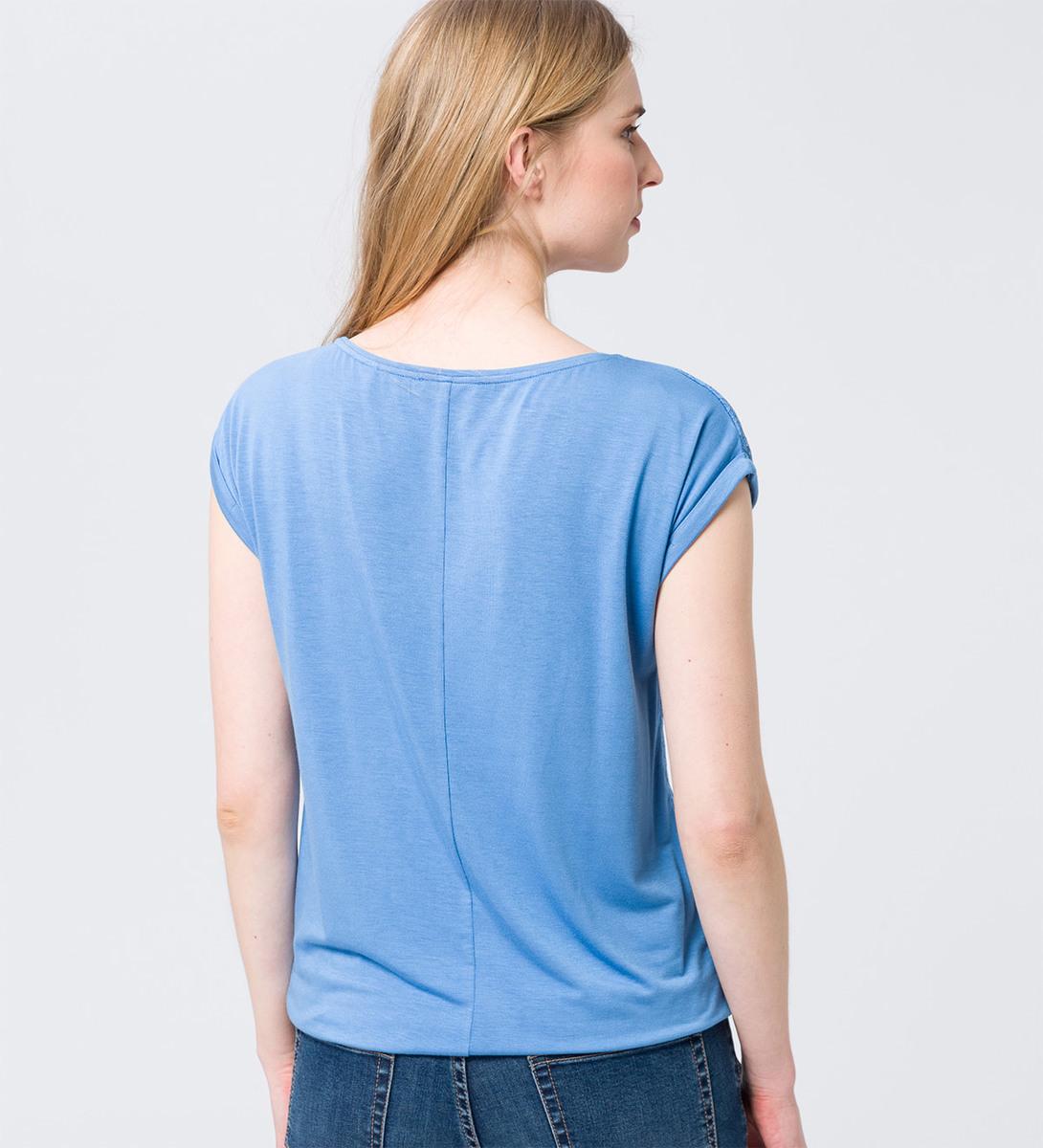 Shirt mit Spitzendesign in light blue
