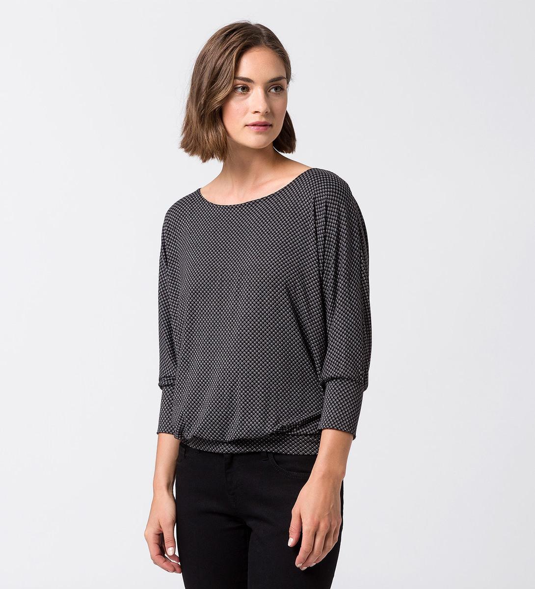 T-Shirt mit Fledermausärmeln black