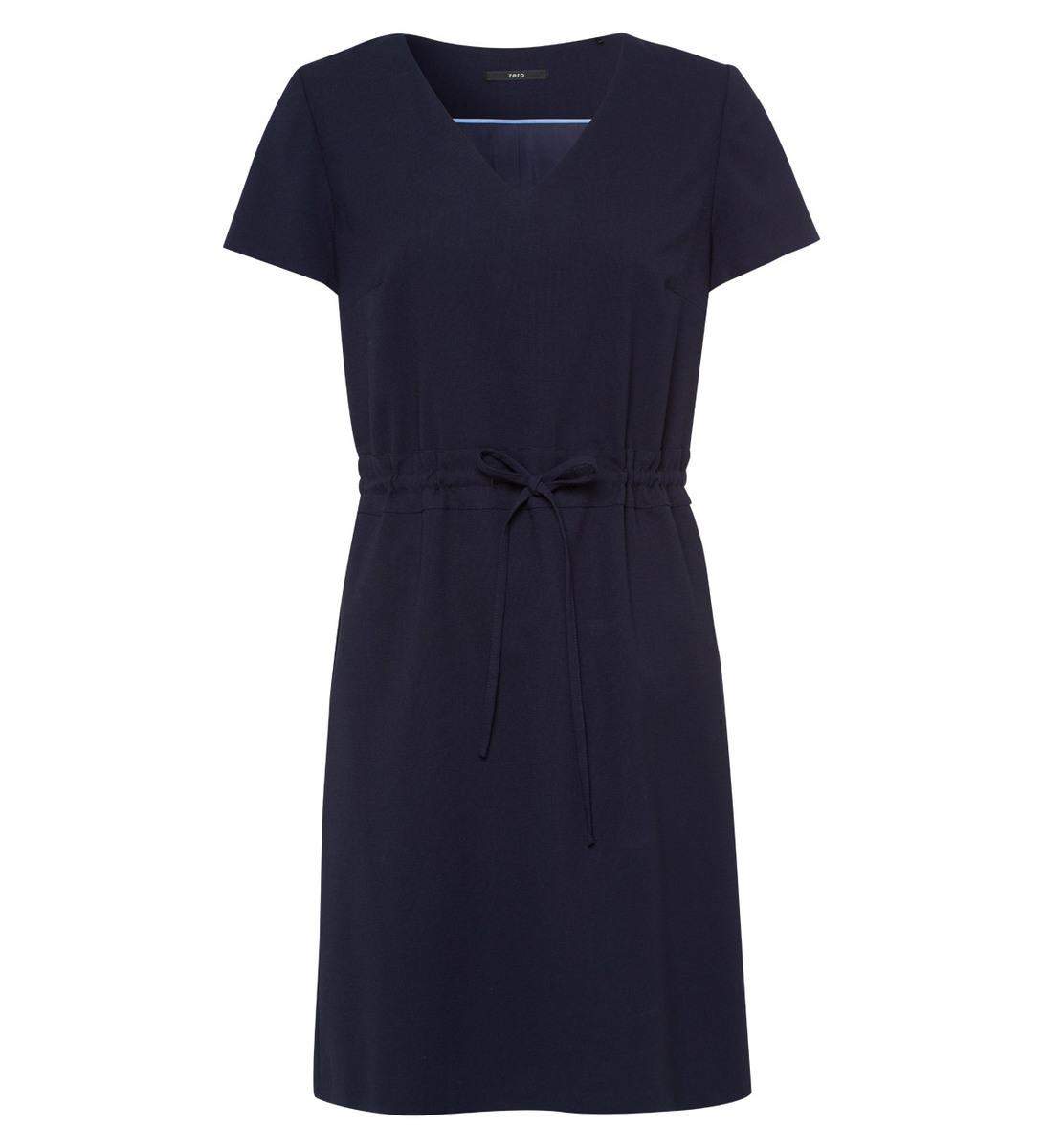 Kleid mit Tunnelzug-Taillenbund in blue black