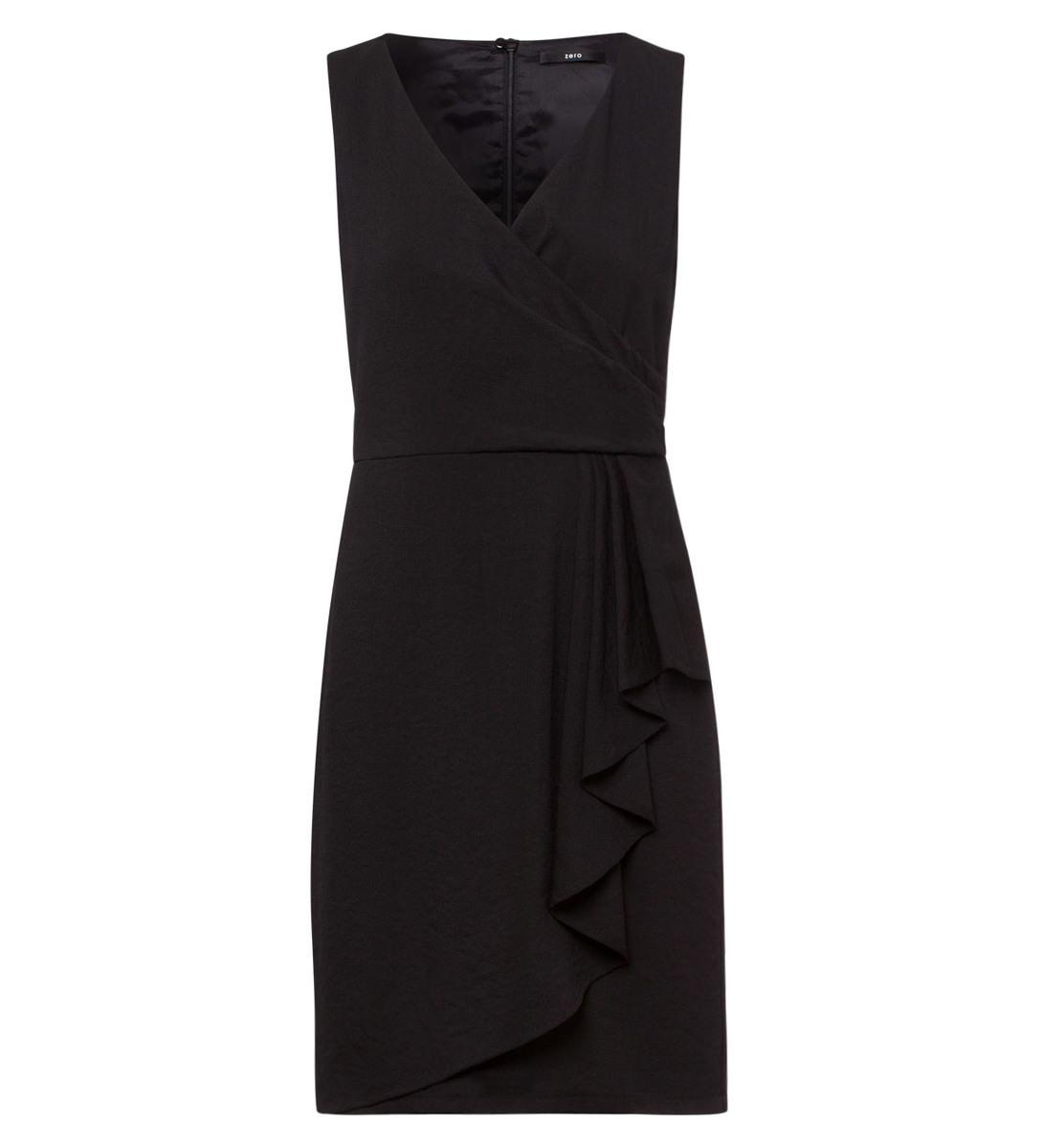 Kleid mit V-Ausschnitt in black