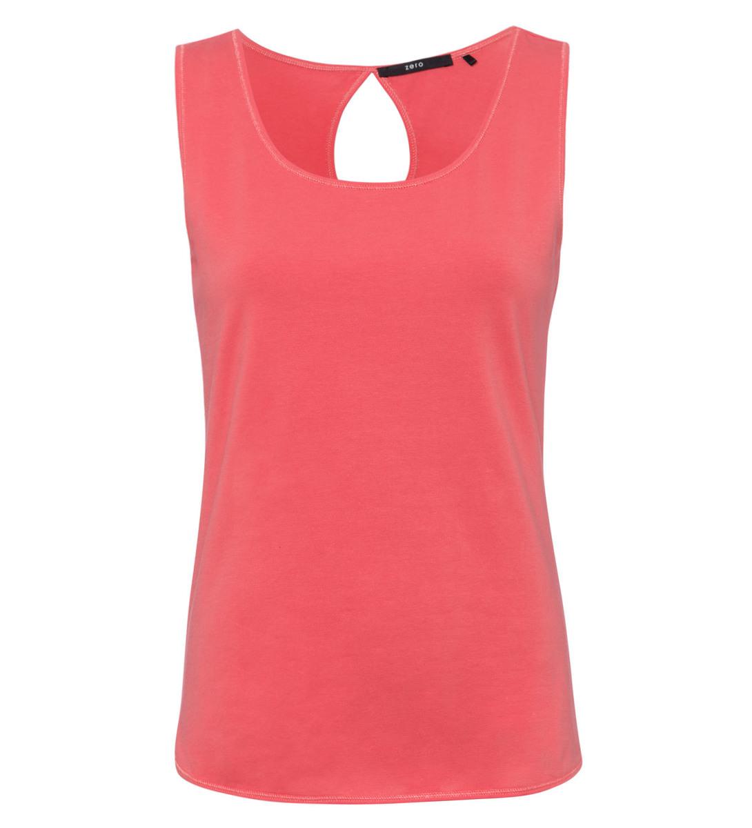 T-Shirt im Basic-Look in soft melon