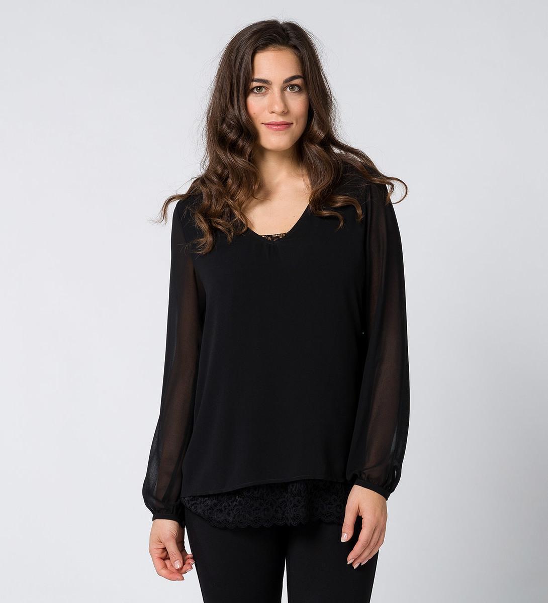 Bluse mit integriertem Top black