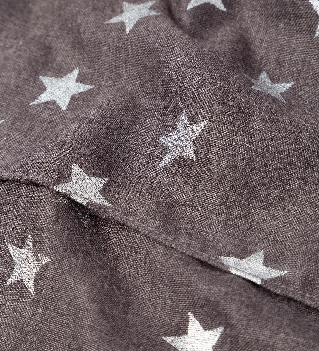 Tuch mit Alloverprint in iron grey