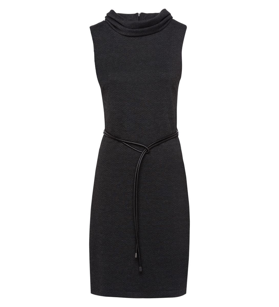 Kleid mit breitem Kragen in black