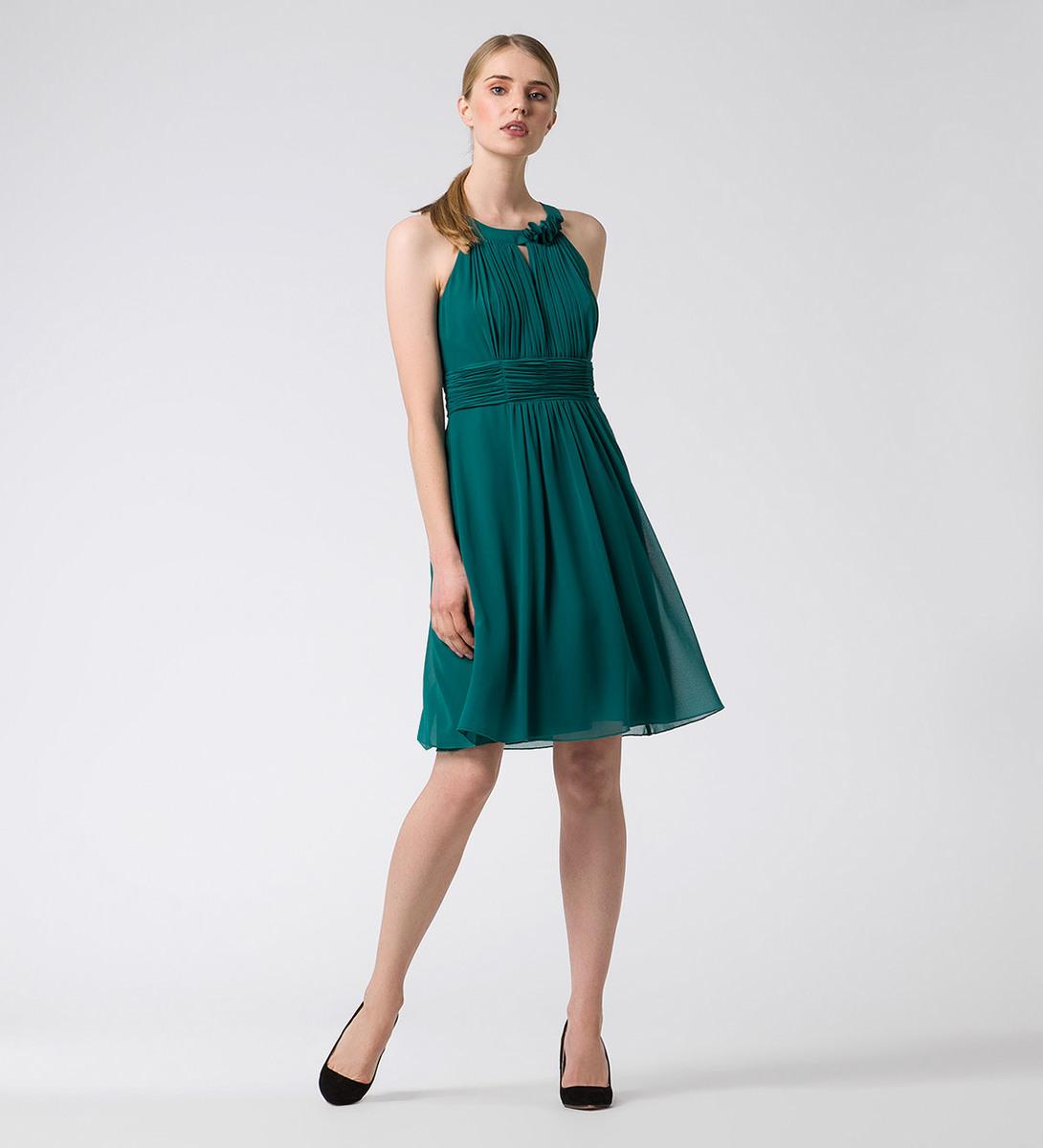 Kleid im eleganten Design in ivy green