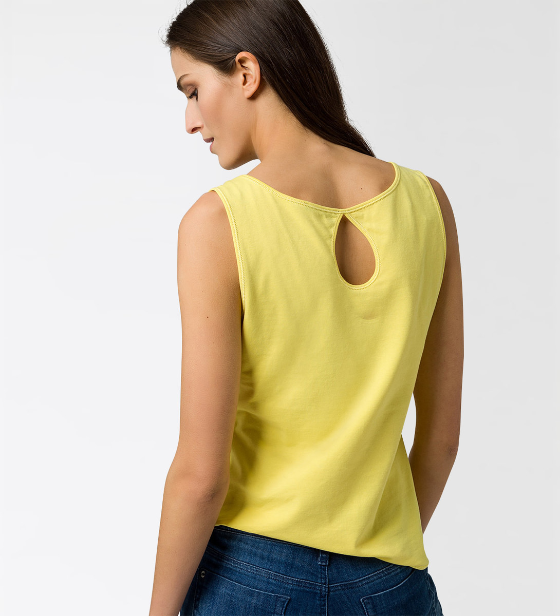 T-Shirt im Basic-Look in lemon